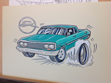1963 Impala Cartoon